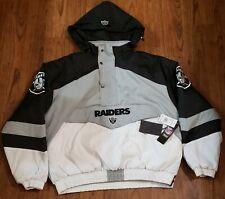 Las Vegas Raiders Jacket Vintage Style Bomber NFL Team Apparel Size Large