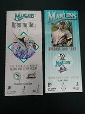 1994 & 1995 Florida Miami Marlins 1st Opening Day Game Opener Ticket Stubs
