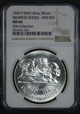 1969 SWO-45A NGC MS-66 US Mint Memphis Sesquicentennial Silver Medal Type 2
