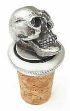 Alas, poor Yorick Handcrafted From English Pewter Bottle Stopper + GiftBag