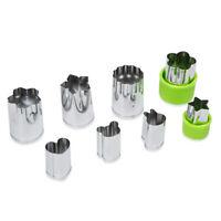8Pcs Vegetable Embossing Mold Stainless Steel Fruit Cutter Slicer for DIY