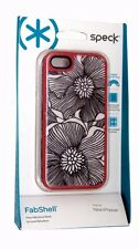 Speck SPK-A0764 FabShell Case FreshBloom Coral Pink/Black for iPhone 5/5S