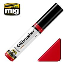 Ammo of Mig Oilbrusher Red - Oil Paint with Fine Brush Applicator #3503