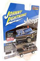 JOHNNY LIGHTNING JLCP7009 1981 JEEP WAGONEER 1/64 MODEL CAR BLACK