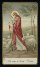 antico santino cromo-holy card ediz.AR n.722 IO SONO IL BUON PASTORE