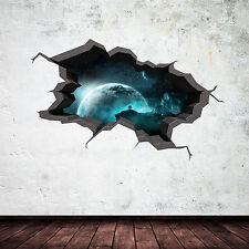 per bambini SPAZIO Adesivi da parete adesivo murale 3D incrinato effetto grafico