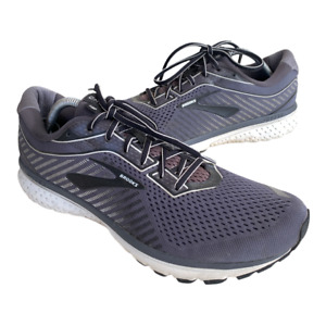 Brooks Ghost 12 Mens Size 12 Gray Black Athletic Running Walking Shoes Sneaker