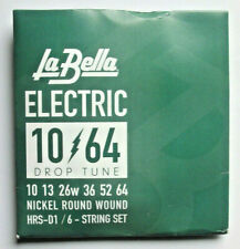 La Bella HRS-D1/6-String Juego Cuerdas de Guitarra Eléctrica Drop Tune 010-064