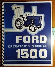 Ford 1500 Tractor 1979-83 Operator's Owner's Manual SE 3751A 42150011