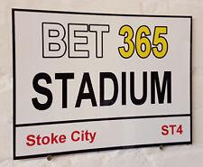 Stoke City Bet 365 Street Sign / Metal Aluminium / Football Fc