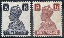India.  1941.  KGVI Definitive.  SG275-276    Mint.
