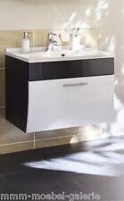 Badezimmer Waschplatz Waschtisch Salona weiß mit Mineralgussbecken #5600-76