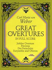 Carl Maria Von Weber Great Overtures Full Score Play Orchestra Music Book