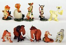 Ice Age The Meltdown Characters Action Figures Toy Set of 10pc Dinosaurs
