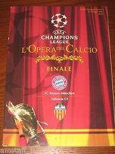 FINAL CHAMPIONS LEAGUE 2001 FC BAYERN MUNCHEN VALENCIA CF PROGRAMME PROGRAMMA