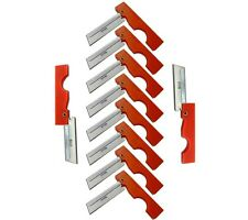 Derma Safe Folding Utility Razor Knife 10 pack Orange for Survival Tool Kit