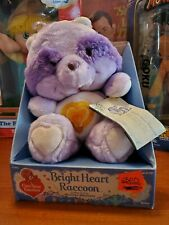 Vintage Care Bears Cousins Kenner 1985 Bright Heart Raccoon MiB Tagged