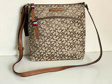 NEW! TOMMY HILFIGER BROWN CROSSBODY SLING MESSENGER BAG PURSE $78 SALE