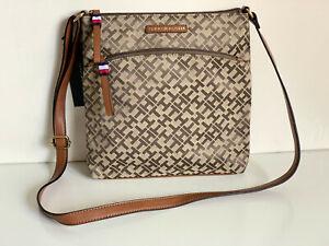 NEW! TOMMY HILFIGER BROWN CROSSBODY SLING MESSENGER BAG PURSE $78 SALE