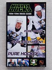 1998-1999 Anaheim Ducks Media Guide. Paul Kariya, Teemu Selanne. HOF. Mighty.