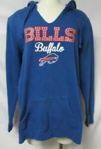 Buffalo Bills Womens Size X-Large Pullover Hoodie w/ Glitter Accent B4 93