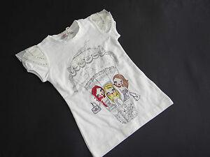 NEU! LAURA BIAGIOTTI DOLLS Tolles T-Shirt Swarovskisteine Gr.5/6A 116 NP.79,95