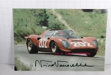 PHOTO cm 10x15 AUTOGRAPHED SIGNED by Nino Vaccarella TARGA FLORIO 1967 FERRARI