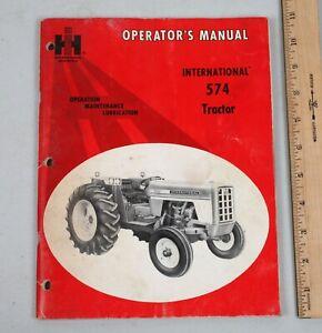 Vintage1973 International Harvester 574 Tractor Operator's Manual
