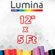 "12"" x 5 Ft Roll Lumina™ Adhesive (Craft/Hobby) Vinyl  - For Cricut/Silhouette"