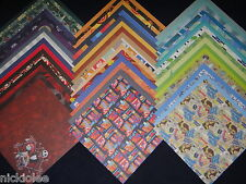 Disney Boys Theme Mickey 12x12 Scrapbook Paper Toy Story 50 Wholesale Lot Kit