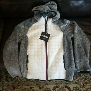 New Women's Swix Myrene Full Zip Quilted Hoody - Medium but Fits Like A Large