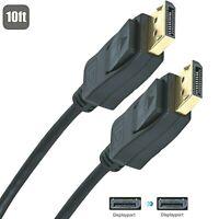 DisplayPort to Displayport Cable 10 Ft 4K@60Hz,1440p@144Hz for Macbook pro