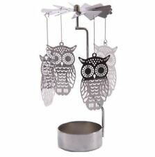 Metal Owl Tea Light Powered Spinning Candle Holder Decoration SPIN07