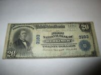$20 1902 Herkimer New York NY National Currency Bank Note Bill! Ch. #3183 FINE!