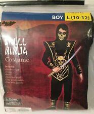 Halloween Costume Complete Ninja Skull Size L (10-12) Boys Kids