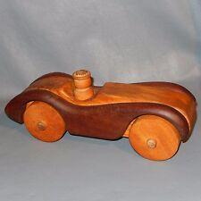 Large Vintage RARE Deborah Bump Staved Wood Race Car Toy Modern Danish Blocks