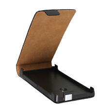 COVER CUSTODIA FLIP CASE PER NOKIA LUMIA 800 IN PELLE NERO LIBRO BOOK BLACK