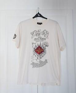 Harry Potter Official T Shirt  Marauders Map Size XL Platform 9 3/4