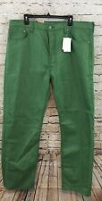 LEVIS 501 JEANS mens 38 x 34 green raw denim 005012413 SHRINK-TO-FIT new E2