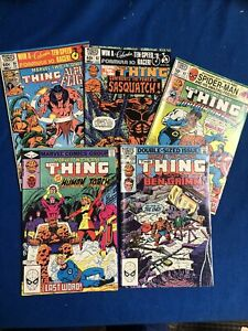 Marvel: Marvel Two In One /Thing Bronze Age Comic Lot (5) Mostly VF Or Better