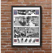 Classic Barber Shop Tribute Poster - Vintage Barber Images and Barber Chairs