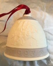 Lladro ~ 1993 Annual Christmas Bell w/ Clapper ~ Lavender ~ Signed ~ Mint Cond.