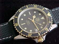 Vintage Man's Tag Heuer 1000 Submariner 980.020N Black Dial Rubber Dive Band
