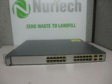 Cisco WS-C3750G-24PS-S 24-Port PoE Gigabit Managed Ethernet Switch