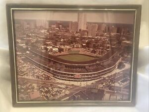 VTG 1970's CHICAGO CUBS WRIGLEY FIELD AERIAL PHOTO 07/14/79 San Diego PADRES