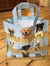 Dog Tote Shopper PVC Bag With Gusset And Zip Pocket