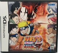 Nintendo DS NARUTO Saikyo Ninja Daikessyu 3 Japanese Version US Seller