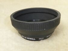 Genuine japan  49mm Filter fit Rubber Lens Hood for  Wide Angle Lens + filter