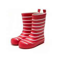 Kids Boys Girls Reflective Striped Wellies Boots Wellingtons School Rain Shoes