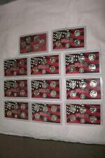 1999-2008 Silver Quarter Proof Sets+ the 2009 Six territorials . All 56 coins .